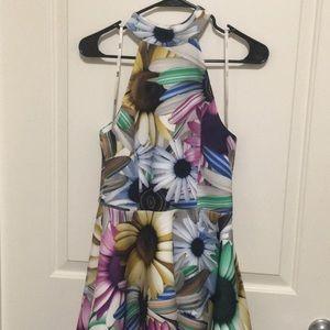 ASOS Full Floral Scuba Skater Dress - 6